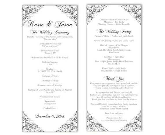 downloadable wedding program templates - Boat.jeremyeaton.co