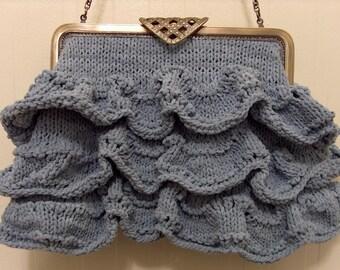 Knitting Pattern for Lady of Shalott by JWWaterhouse Purse PDF