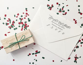 Custom Hand-Lettered Return Address Stamp