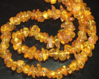 16 Inches 100 Percent  Natural Amber From -Polland-uncut SIZE 7 MM - 10 MM