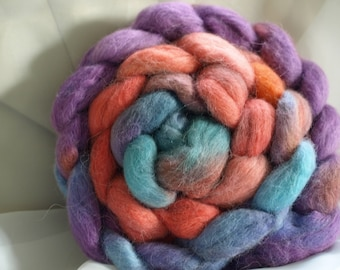 Combed tops, baby alpaca, hand-dyed