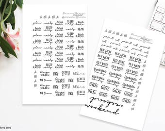 Words Stickers | My Planner & I | Printable Planner Stickers
