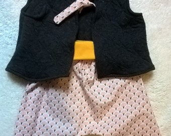 Baby harem pants and vest - 3 months