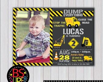 Construction Birthday Invitation, Construction Party, Construction Birthday, Construction Invitation, Boys Construction invite