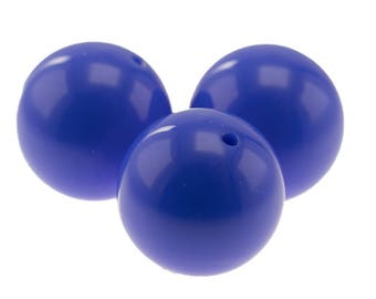 14mm round bead in periwinkle blue 7Pcs (PK0009_14mm_483)