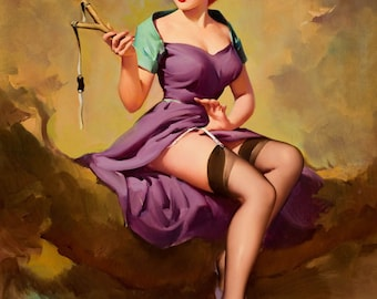 Pin Up Girl Art Print Reproduction, it's_a_snap 1958 by Gil Elvgren