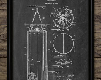Vintage Punch Bag Patent Print - 1958 Punch Bag Design - Boxing Equipment - Gym Punching Bag - Single Print #980 - INSTANT DOWNLOAD