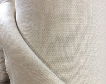 Exquisite European Linen in shell/sand multipurpose fabric
