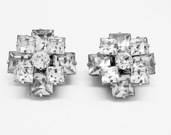 Sparkly Vintage Crystal Rhinestone Earrings