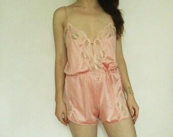 80s Delicate Pink Teddie XS S