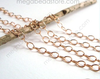 3 feet Rose Gold Filled Cable Chain Loose Chain 4mm x 2.6mm CH76RGF