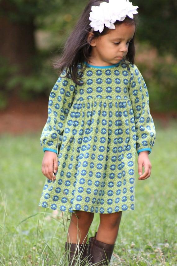 Snapdragon Dress 12m-8 PDF pattern for Knits Girls Knit Dress