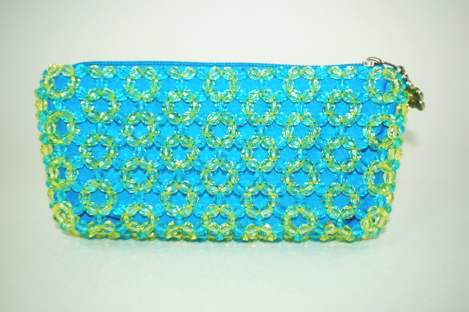 Beaded Clutch Small Beaded Clutch Bead Wallet Teal Clutch