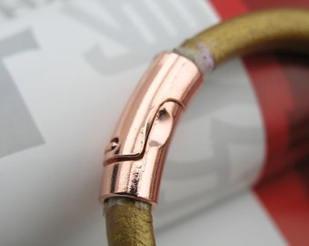 3 Sets 10.5x6.5mm Copper Color Magnetic Clasp For Licorice Leather Cord