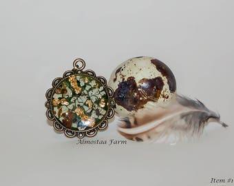 Quail Eggshell Necklace #101