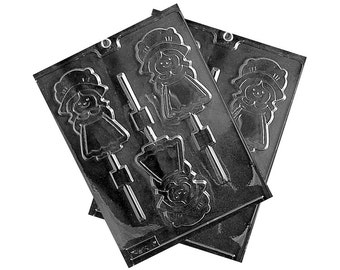 Pilgrim Girl Chocolate Lollipop Mold, Candy Molds, Candy Making