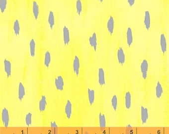 Sunshine Serenade - Droplet Yellow Gray by Iza Pearl Design from Windham Fabrics