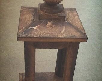 aged look wood lantern
