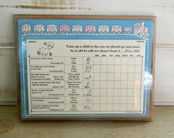 Blessed Creations Training Chart - 1986 - Sealed Wall Chart - Learning Chart - Behavioral Chart
