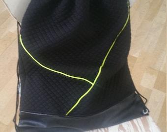Bag backpack black neon Yellow