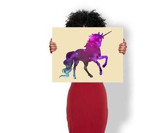 Unicorn Starry Sky - Art Print / Poster / Cool Art - Any Size