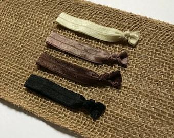 Neutral Hair Tie Set   Elastic Hair Tie   Creaseless Hair Tie   Brown Hair Ties   Hair Tie Favor   FOE Hair Tie   Hair Tie Bracelet