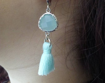 "Earrings ""Sarah alexandra"", Crystal and tassels."