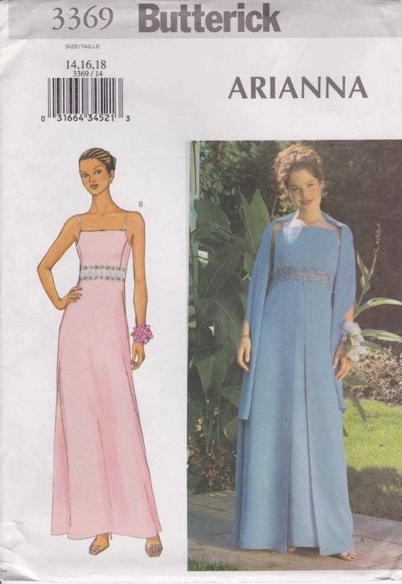 Formal Dress Pattern Prom Dress Evening Gown Pattern Long Dress Size ...