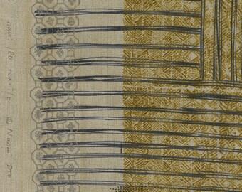 Nani Iro Kokka Japanese Fabric ori-some linen - biwacya - 50cm