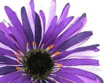 Party Purple Wild Gerbera Daisy - Artificial Flowers, Silk Flower Heads - PRE-ORDER