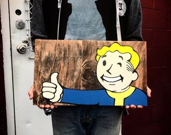 Fallout vault boy painting