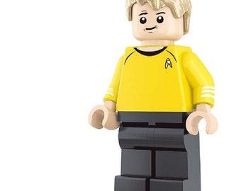 Captain James T. Kirk custom Star Trek Minifigure fits LEGO Starship USS Enterprise
