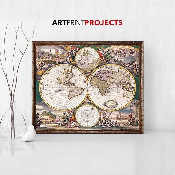 Large world map vintage style map map poster world map vintage te gusta este artculo gumiabroncs Choice Image
