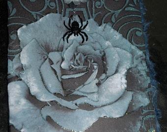 Dark Rose Spider Handmade Love Card