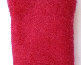 Merino Wool Roving - Cranberry - 1 oz