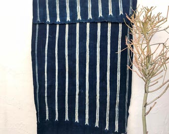 Vintage African Textile | African indigo blanket Indigo Textile Indigo Mudcloth African Mudcloth Indigo Cloth Beach Blanket tribal fabric 86