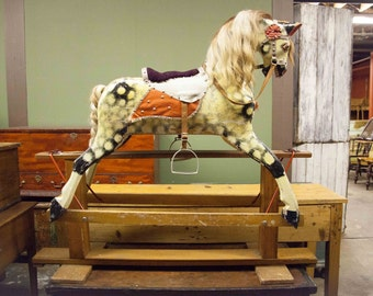 English Platform Rocking Horse in EXCELLENT Condition