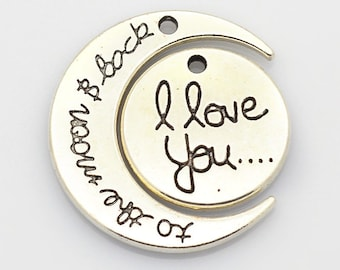 Love you to the moon and back Necklace Set   QTY 4  (M-100)