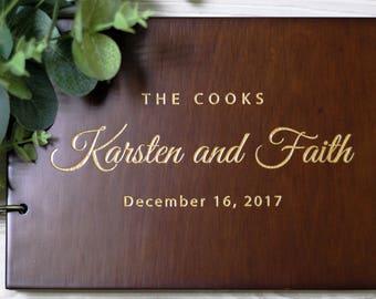 Rustic Guest book, Wedding Guest Book, Wood GuestBook, Custom Guest Book , Engraved Guest Book #86