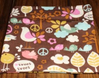 Peace and Love Reusable Cloth Sandwich Bag
