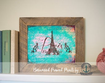 Parisiffel Tower - Reclaimed Barnwood Framed Print - Ready to Hang - Sizes at Dropdown