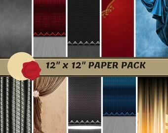 "12' x 12"" Digital Paper - Stage/Acting Insta-Print Pack"