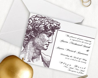 Adonis Greek Wedding Invitation