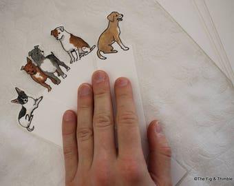 Dog bookmarks - Set of seven handpainted bookmarks