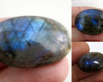 Labradorite Cabochon Trio, 71ct TW Flashy Stone Cabochons, Loose Stone,  Wholesale Gemstones, Lot 12