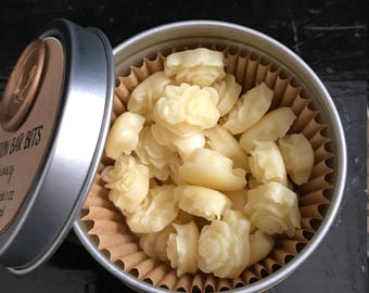 Handmade Solid Lotion Bar BITS - Vanilla and Shea Nut - All Natural Ingredients - No Artificial Colors or Fragrances - Travel Lotion Bits