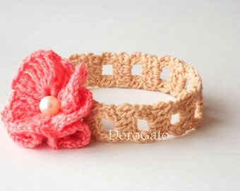 Crochet Headband Pattern, Baby Crochet Pattern, Girl Headband, DIY Craft, Baby To Adult Sizes, Instant Download /3005/