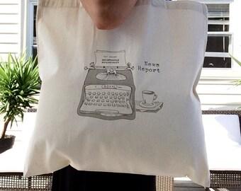 TOTE Bag - Cotton Tote Bag - Shopping bag - Typewriter