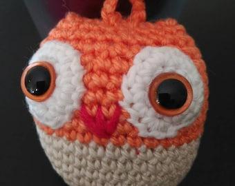 Owl Keychain, Amigurumi keychain, crochet keychain, save keys