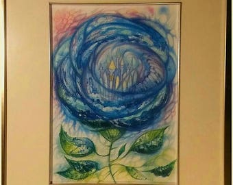 Dream.Fantasy art Print from my original painting.